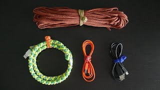 Two Simple DIY Paracord Cable Organizers   How To Make Paracord Cable Ties Tutorial