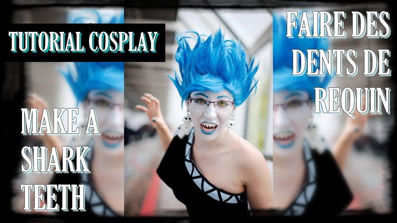 Tuto Cosplay: Make a shark teeth / Faire des Dents de ...