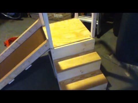 Building a wooden toddler slide