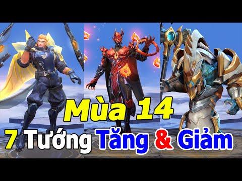 Liên quân mobile 7 Tướng Tăng và Giảm sức mạnh Mùa 14 Trảm Marja, Dirak vì quá MẠNH  TNG