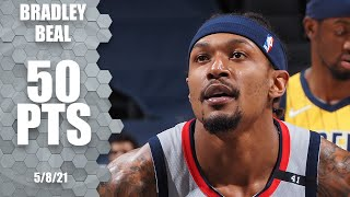 Bradley Beal SCORES 50 PTS as Wizards edge Pacers 🔥