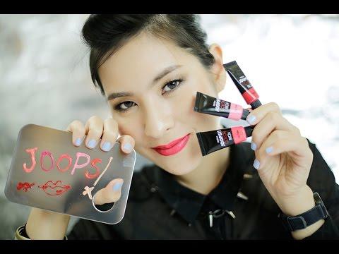UNPACK แกะลอง - Mistine JOOPS!! Color Rich Lip Tube