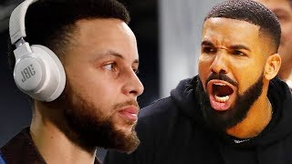 Steph Curry Shares Thoughts On Drake's Sideline Antics & Drake BLASTED For KD & Steph Tattoos!