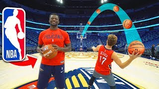 NBA Stadium Basketball TRICKSHOTS vs Julius Randle