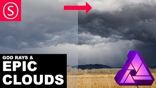 Affinity Photo: Epic Clouds Tutorial - Shape Clouds - Create God Rays