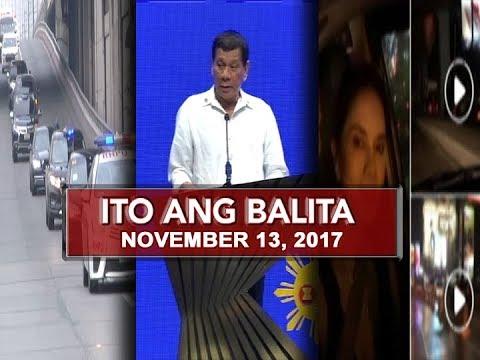 UNTV: Ito Ang Balita (November 13, 2017)
