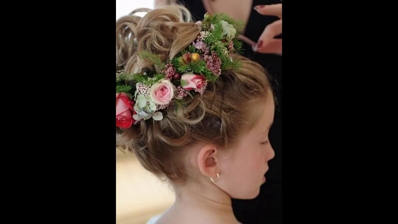 Flower girl wedding hairstyles - YouTube