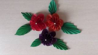 Подарок маме. 🌸 Красивые цветы из бумаги. Origami Easy Paper Flower.