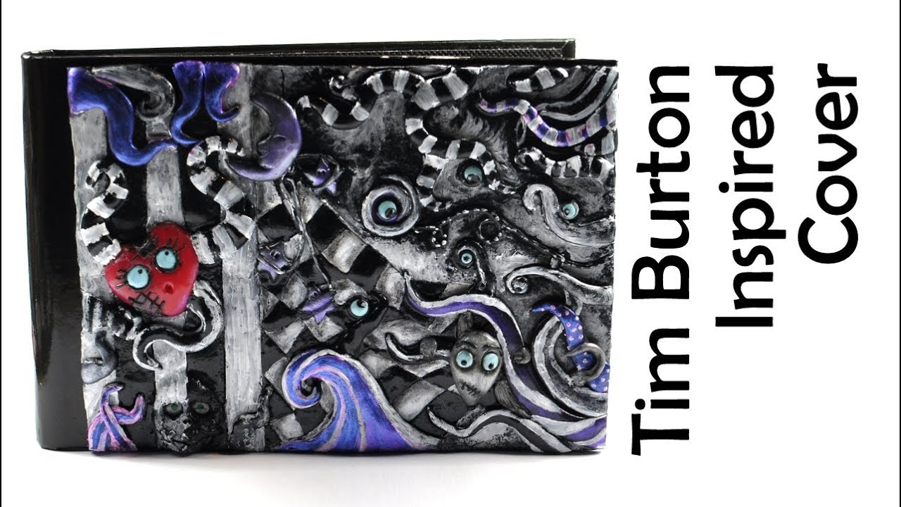 Nhs Red Book Cover Tutorial ~ Tim burton inspired journal cover polymer clay tutorial