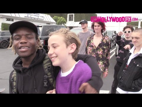 Ian Connor Skateboards With Friends At Fred Segal 8.25.15 - TheHollywoodFix.com