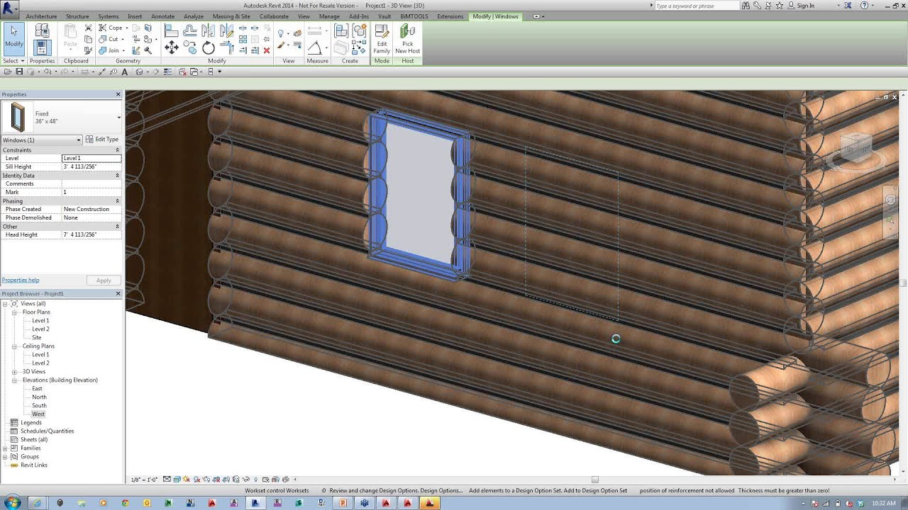 Cad presents log timber construction in revit youtube