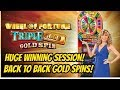 WOW! MUST WATCH TRIPLE GOLD WHEEL OF FORTUNE SESSION