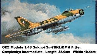 OEZ 1:48 Su-7 BKL BMK Plastic Aircraft Model Kit #2U