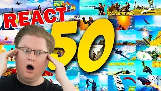 React: TOP 50 GAMING ACCIDENTAL WINS!