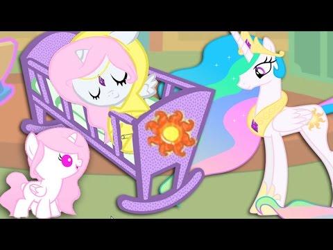 Создаем и растим пони Принцессу Селестию из мультика про Май Литл Пони в игре Карманная пони.