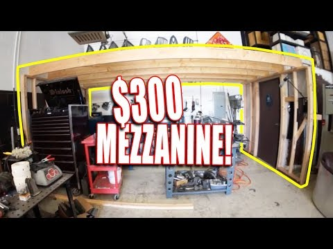 I built a cheap shop mezzanine - REMODEL PART 3