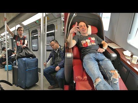 Viajando en tren ECONÓMICO vs PRIMERA CLASE