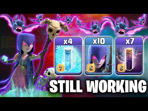Still Working After New Update 10 Witch 7 Bat Spell 4 Freeze Spell Try Best TH12 War 3star Attack