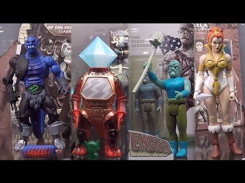 New York Toy Fair 2017 Super7 Booth Tour Masters Of The Universe Classics He Man Reaction Figures Co