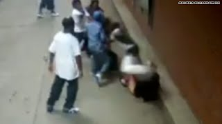 Suspects sought in brutal attack caught on tape