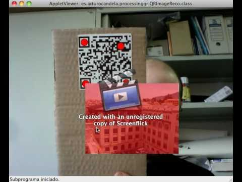 AR with Processing reading QR codes using zxing library