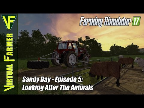 Let's Play Farming Simulator 17 - Sandy Bay, Episode 5: Looking After The Animals