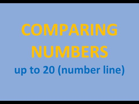 Comparing Numbers - Numbers Up To 20 (number Line)