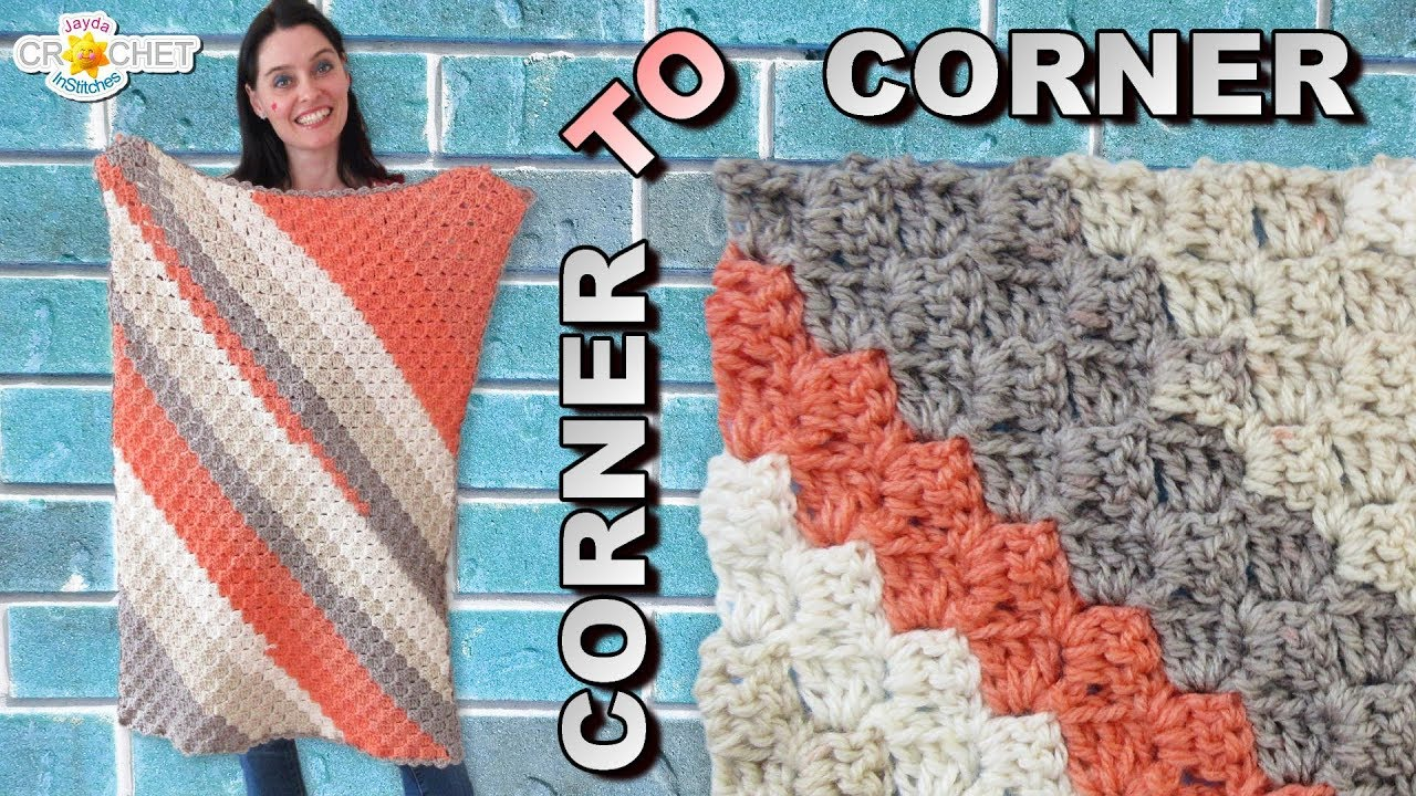 C2c Corner To Corner Baby Blanket Rectangle Pattern Youtube
