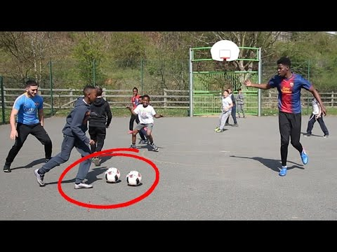 PLAYING KIDS at FOOTBALL!! - Meeting the 9 year old NEYMAR ??
