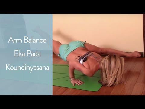 Yoga Arm Balance, Eka Pada Koundinyasana with Kino