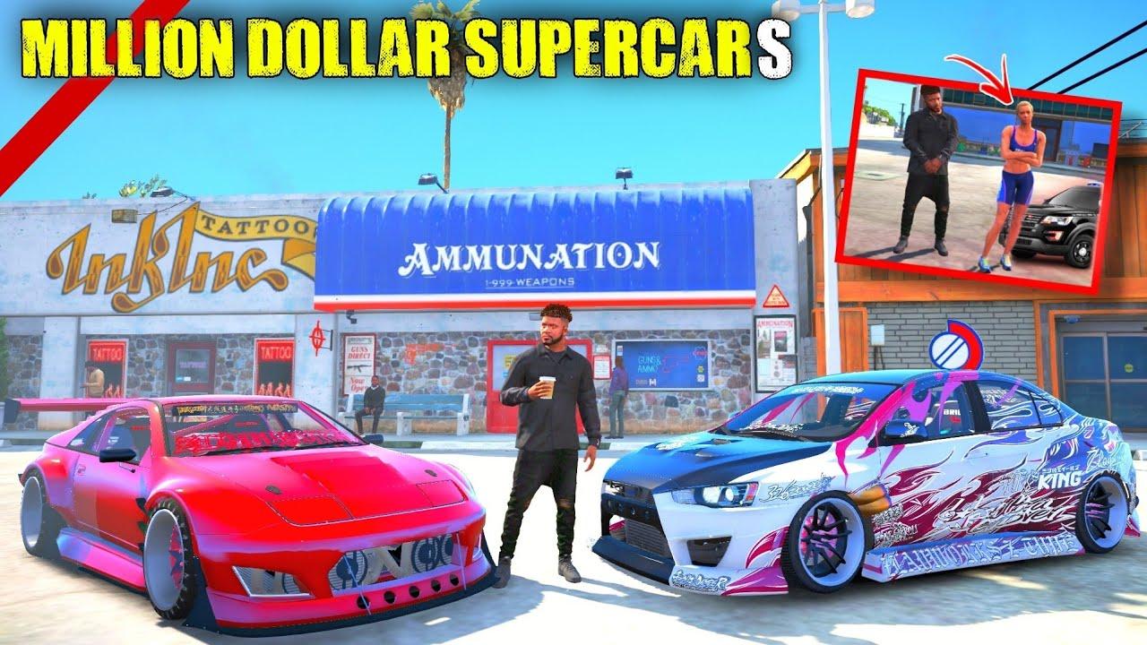 FRANKLIN'S NEW 99 PERCENT MODIFIED SUPER CARS WORTH 2 MILLION DOLLARS   GTA 5 MALAYALAM
