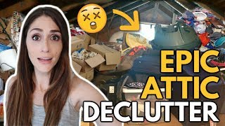 EXTREME ATTIC DECLUTTER WITH ME + Organization Tips