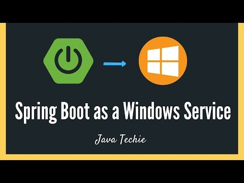 SpringBoot : Run Application As A Windows Service | Example | JavaTechie