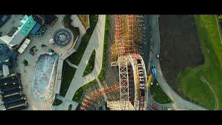 ZADRA Wooden Coaster Drone & POV - Energylandia Amusement Park Poland / No. 1 in the World