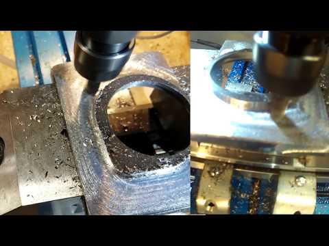 Upgrade, Grizzly G4000 9x20 lathe, 4 bolt clamp mod. Milling mild steel  on MaxNC cnc