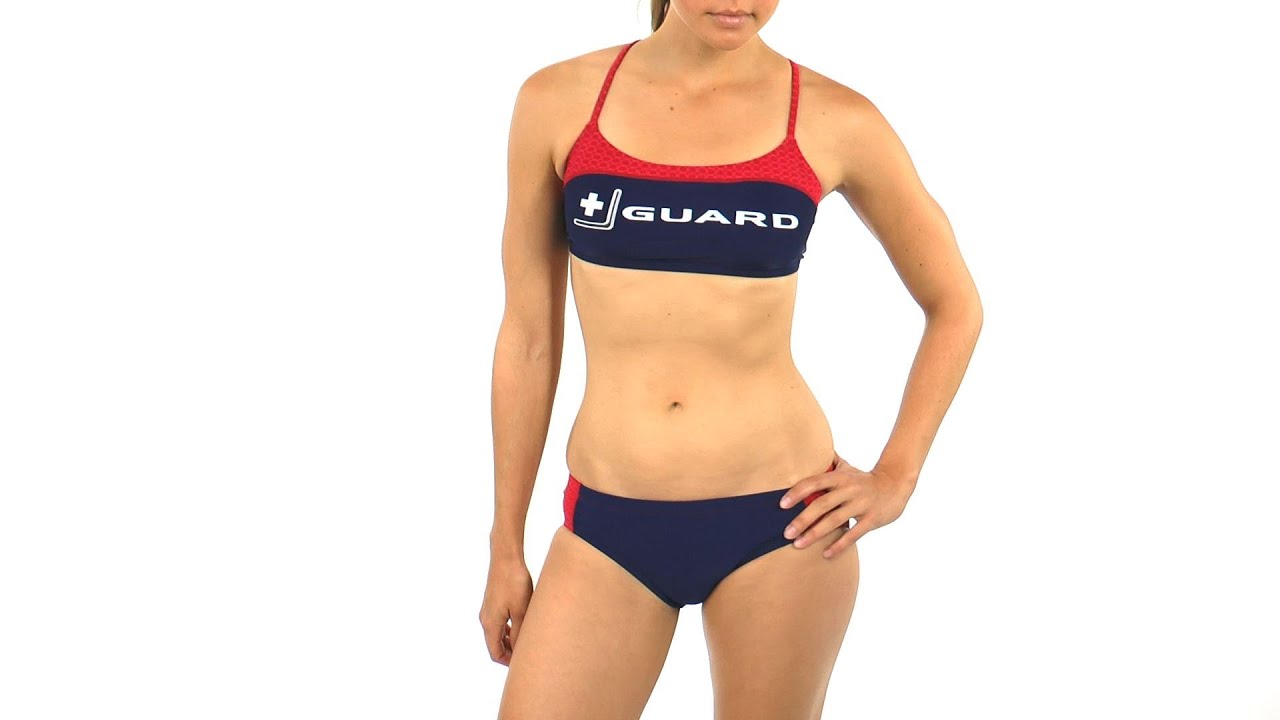 0667e2ab1a4 Nike Swim Lifeguard Sport Top 2PC | SwimOutlet.com - YouTube