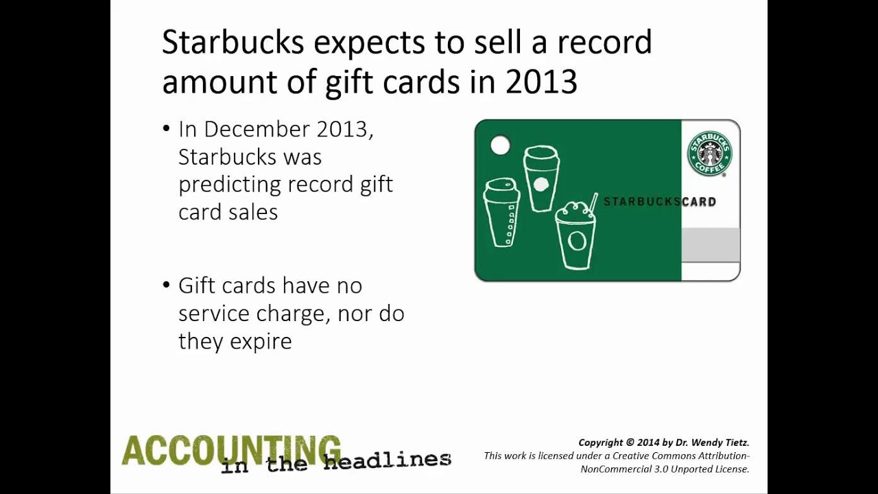 How does Starbucks account for gift card sales? - YouTube