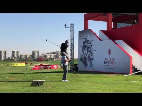 The Golf Trick Shot boys performing at the 2018 Abu Dhabi HSBC Golf Championship