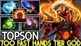 TOPSON [Ember Spirit] Too Fast Hands Tier God Cancer Hero Meta 7.22 Dota 2