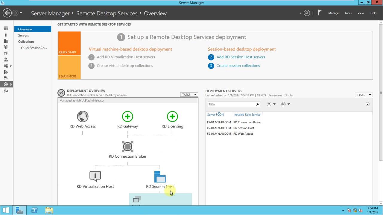 console windows host server 2012