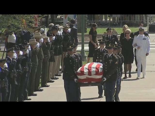 John McCain honored at Arizona State Capitol
