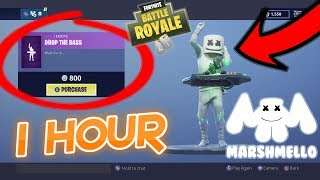 "*1 HOUR LOOP* MARSHMELLO Skin Performing ""Drop The Bass"" EMOTE In FORTNITE"