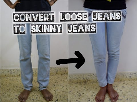 diy convert loose jeans to skinny fit ankle length jeans in just 15 mins arpana youtube. Black Bedroom Furniture Sets. Home Design Ideas