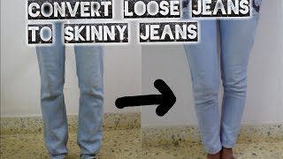 DIY: Convert Loose Jeans to Skinny Fit Ankle Length Jeans in Just 15 Mins | Arpana