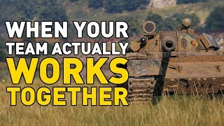 When Your Team ACTUALLY Works Together in World of Tanks!