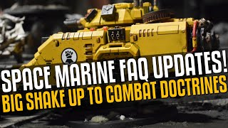 BIG changes to Space Marines on the Table Top! Doctrines shake up!