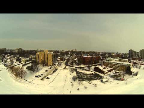Winter Kingston Ontario Lake front (video by Cutgraphic.com)