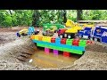 Build Bridge Blocks Toys for Children | Construction vehicles for kids #2 Nursery Rhymes