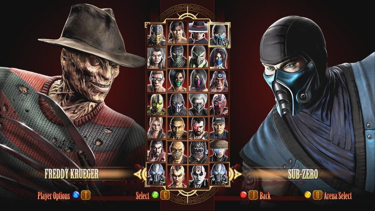 Mortal Kombat 9 Freddy Krueger Halloween - YouTube