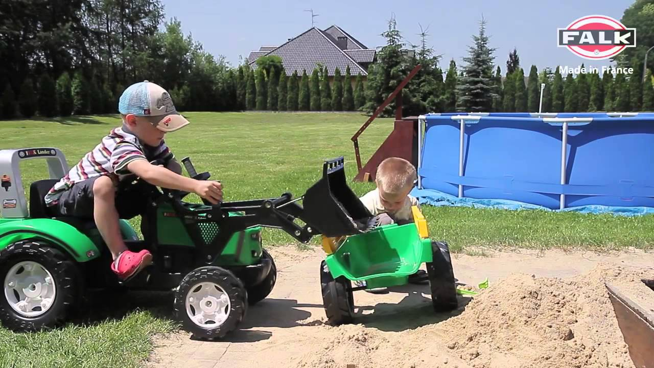 Cars Children's toy trucks on the pedals Tractor Loader Backhoe .